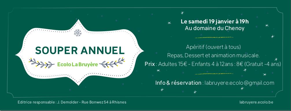 Souper Ecolo La Bruyère 2019